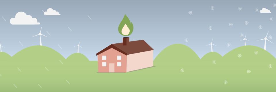 heated house